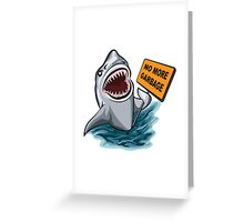 The shark voting against ocean pollution and garbage.   Greeting Card