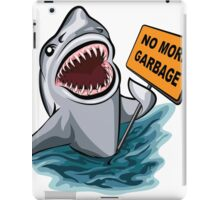 The shark voting against ocean pollution and garbage.   iPad Case/Skin