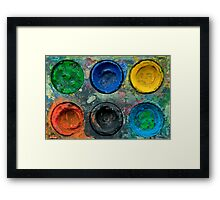 Painted Pallette No.5 Framed Print