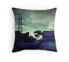 Old pump house Throw Pillow