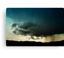 Storm Over Stoney Indian Reserve Canvas Print