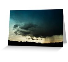 Storm Over Stoney Indian Reserve Greeting Card