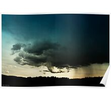 Storm Over Stoney Indian Reserve Poster