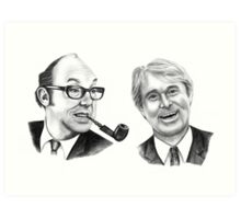 Morecambe and Wise Art Print
