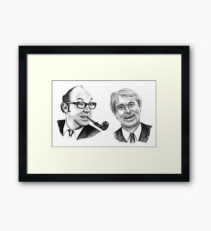 Morecambe and Wise Framed Print