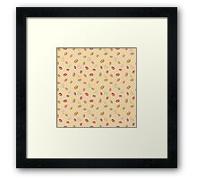 Classic coffee pattern Framed Print