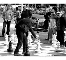 Lunchtime Chess Photographic Print