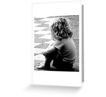 Solitude of A Child Greeting Card
