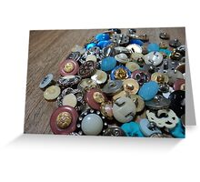 buttons spill Greeting Card