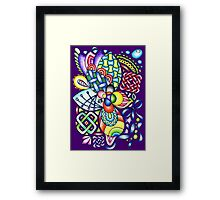 Rainbow Patterns Celtic and Geometric Drawing  Framed Print