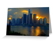 Evening in Detroit Greeting Card
