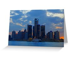 City of Detroit Greeting Card