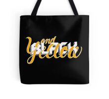 Black and Yellow: Extra Black Tote Bag
