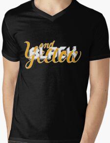 Black and Yellow: Extra Black Mens V-Neck T-Shirt
