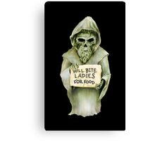 Undead Templar (Homeless) Canvas Print