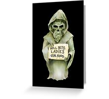 Undead Templar (Homeless) Greeting Card