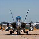 F 18 F/A Jet on the Tarmac by Buckwhite