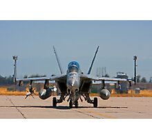 F 18 F/A Jet on the Tarmac Photographic Print