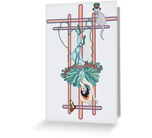 Tarot Hanged Woman Greeting Card