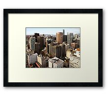 Downtown Skyscrapers from Harbour Tower, Vancouver City, Canada  Framed Print