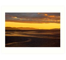 Wind journey over the water Art Print