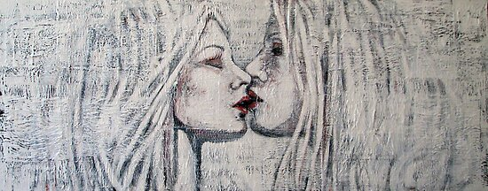 Girls Kissing by Gay Henderson