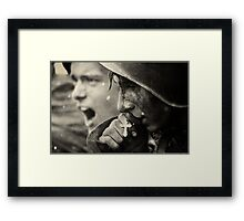 Soldiers faith  Framed Print