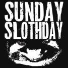 sloth black & white by Vana Shipton