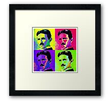 Nikola Tesla Pop Art Framed Print