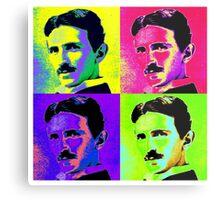 Nikola Tesla Pop Art Metal Print