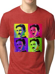 Nikola Tesla Pop Art Tri-blend T-Shirt