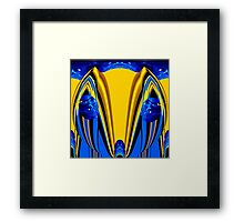 blue-eyed yellow fox Framed Print
