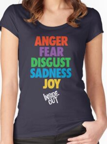 Inside Out emotions with the logo Women's Fitted Scoop T-Shirt