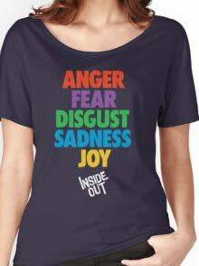 Inside Out emotions with the logo Women's Relaxed Fit T-Shirt