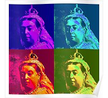Queen Victoria Pop Art Poster