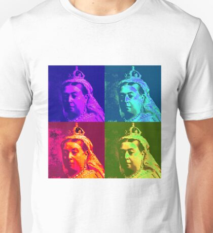 Queen Victoria Pop Art Unisex T-Shirt