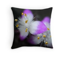 macro flower Throw Pillow