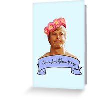 arthur pendragon once and future Greeting Card