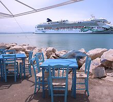 A Cruise ship in Greece by John44