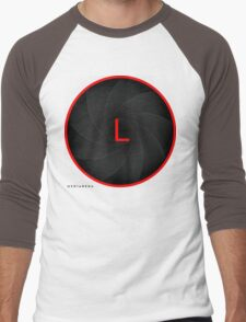 Mediarena Canon L lens L T-shirt Men's Baseball ¾ T-Shirt