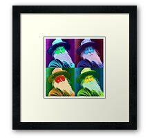 Walt Whitman Pop Art Framed Print