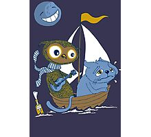The Owl and the Sea Sick Pussy Cat Photographic Print