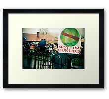 Reportage- 'No McDonalds in Tecoma!' Framed Print