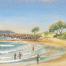 Surfers at North Wall by maria paterson