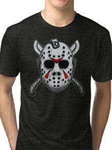 Friday the 13th Jason Mask Tri-blend T-Shirt
