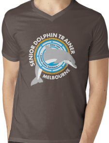 Dolphin Trainer Mens V-Neck T-Shirt