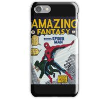 Spiderman comic book cover- acrylic painting iPhone Case/Skin