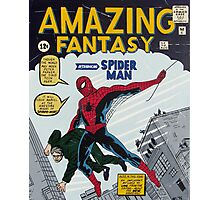 Spiderman comic book cover- acrylic painting Photographic Print