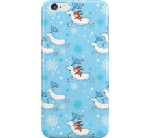 Riding Reindeer - Christmas Pattern iPhone Case/Skin