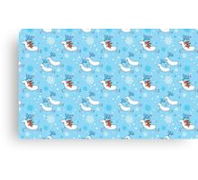 Riding Reindeer - Christmas Pattern Canvas Print